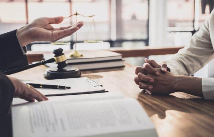 Advocat amb el seu client